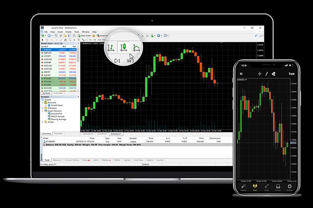 MetaTrader 5 Forex trading platform, application