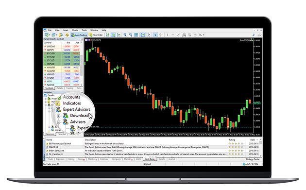 MetaTrader 5 Forex trading platform, application